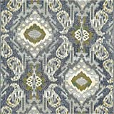 Unique Loom Eden Outdoor Collection Blue 6 ft Square Area Rug (6' x 6')