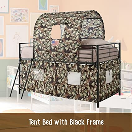 Amazon Com The Bunk Bed Tent Kit Twin Synthetic Metal Loft Bed Best