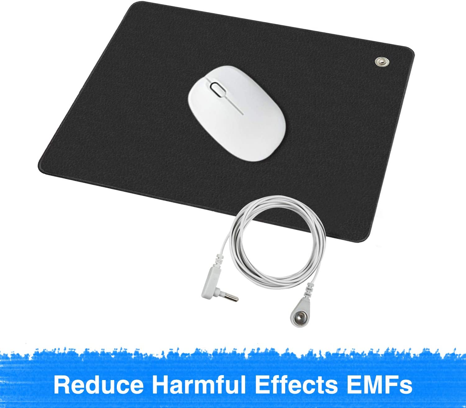 Grounding Computer Mouse Pad,Reduce Pain and Inflammation, Reconnect to The Earth EMF Recovery,11.8x9.8 inches Fits for Study and Working