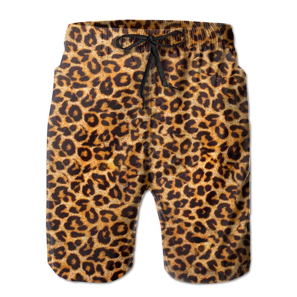 95531ecbf6487 Amazon.com: Leopard Print.jpg Men's Swim Trunks Quick Dry Beach Shorts  Beach Surfing Running Swimming Swim Shorts: Clothing