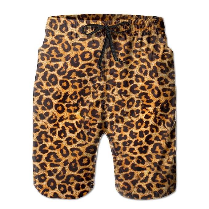 a82460e669 Amazon.com: Leopard Print.jpg Men's Swim Trunks Quick Dry Beach Shorts  Beach Surfing Running Swimming Swim Shorts: Clothing