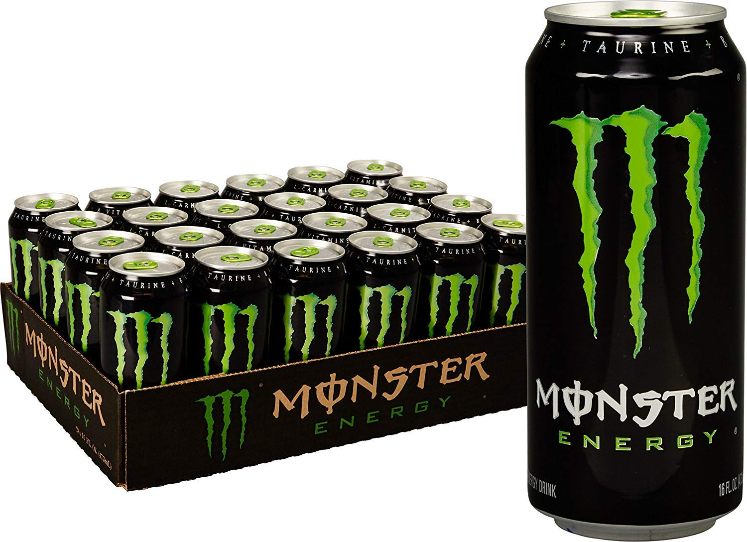Monster Energy Drink, Green, Original, 16 Ounce 3 Cases of 24 Cans