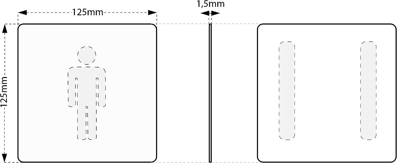 Hinweisschild /• Konferenz 013 /• aus 1,5 mm starkem Aluminium Vollmaterial /• kontrastreicherer Look als bei herk/ömmlichen Edelstahlschildern Kinekt3d Leitsysteme XXL Schild /• 125 x 125mm /• T/ürschild