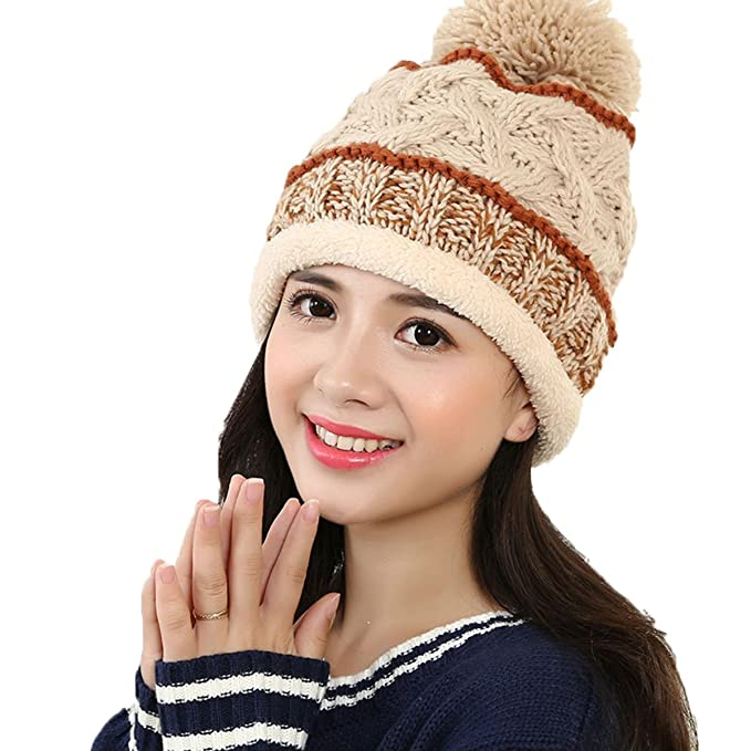 Youson Girl® Unisex 2017 Warm Häkeln Slouchy Muster Beanie Hut ...