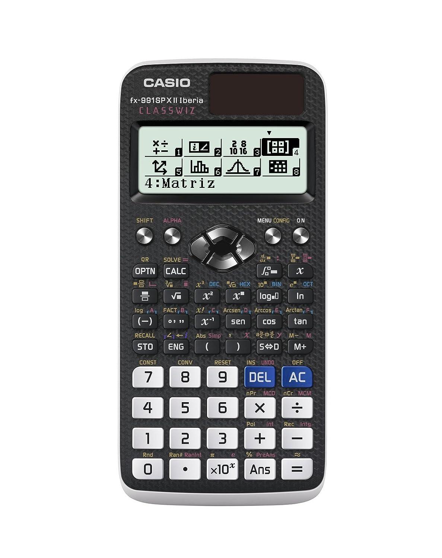 Casio FX-991SPXII - Calculadora científica (553 funciones, cálculo de ecuaciones, 47 constantes científicas), color negro