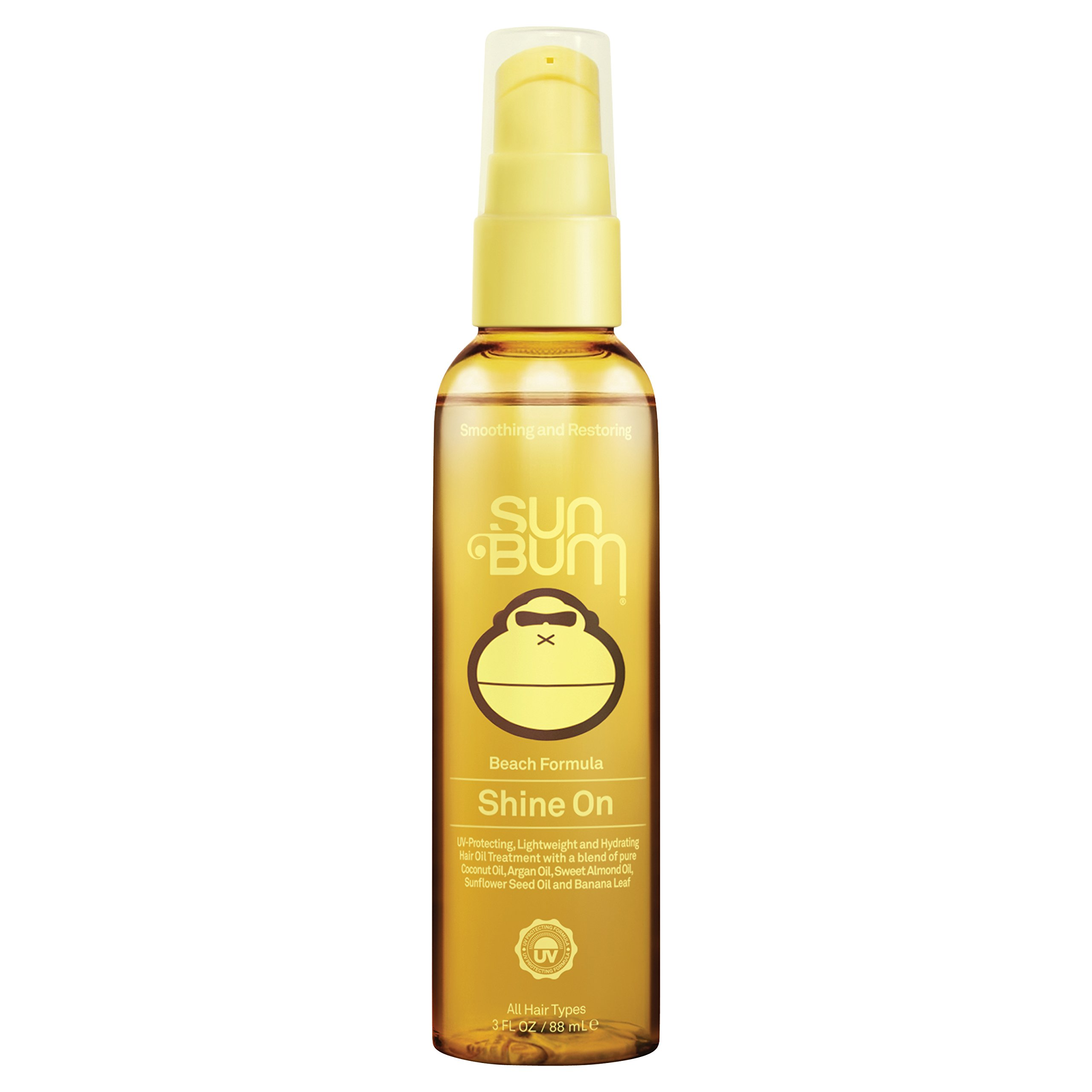 Sun Bum Beach Formula Revitalizing Shine On Hair Conditioning Treatment Spray, 3 oz Spray Bottle, 1 Count, Argal Oil, Hydrating, Frizz Control, UV Protection, Paraben Free, Gluten Free, Vegan