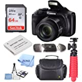 Canon PowerShot SX540 HS 20.3MP Digital Camera with 50x Optical Zoom + 64GB Delux Accessory Bundle