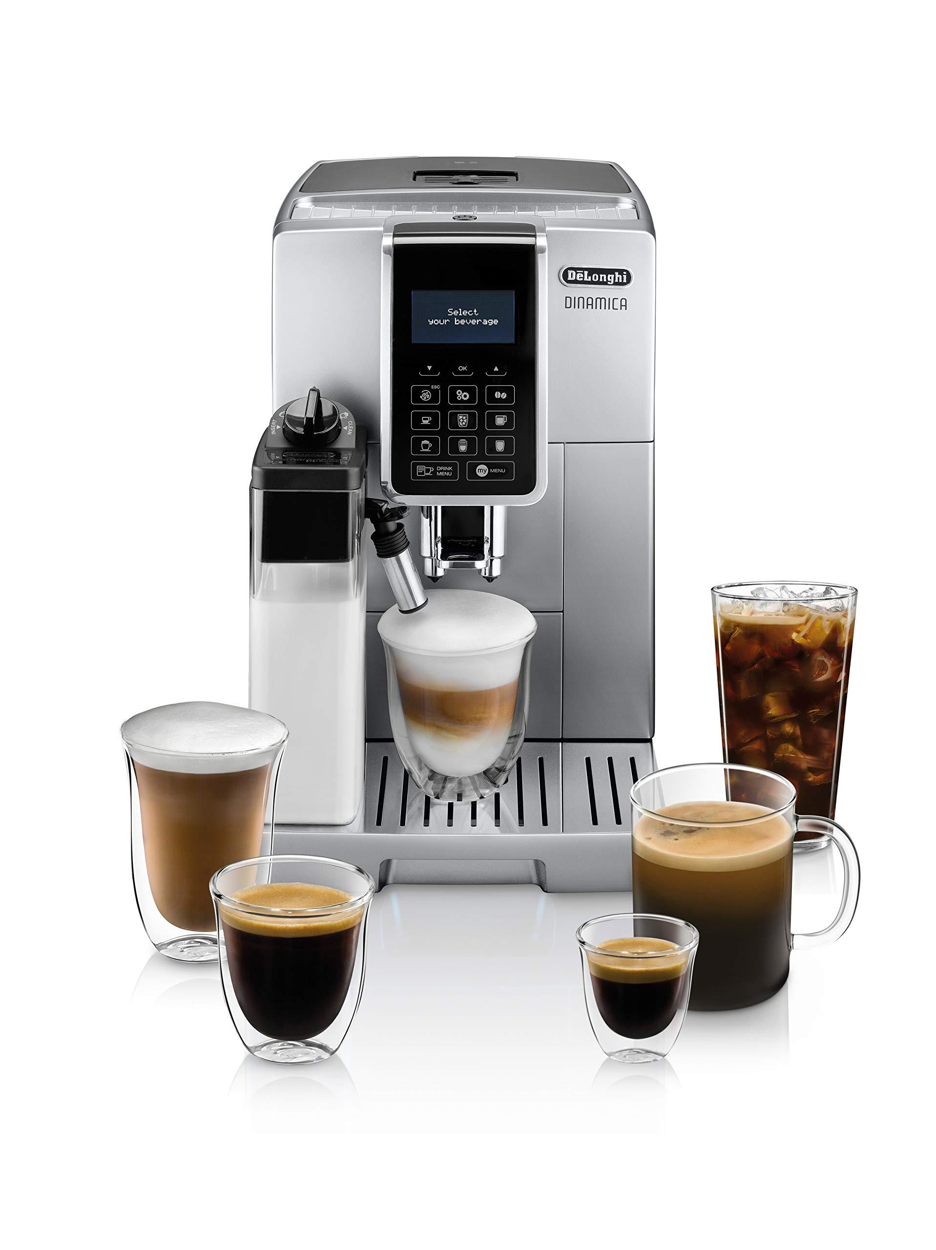 De'Longhi ECAM35075SI Dinamica with LatteCrema™ Fully Automatic Espresso Machine, Silver