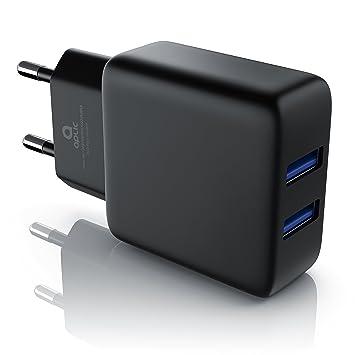 CSL - 2A Cargador de Red USB 2 Puertos: Amazon.es: Electrónica