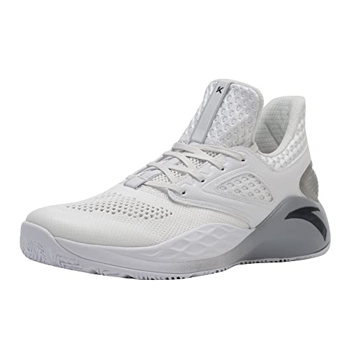 ANTA KT Light Men's Basketball Shoe Training Sneakers (8 D(M) US, White)