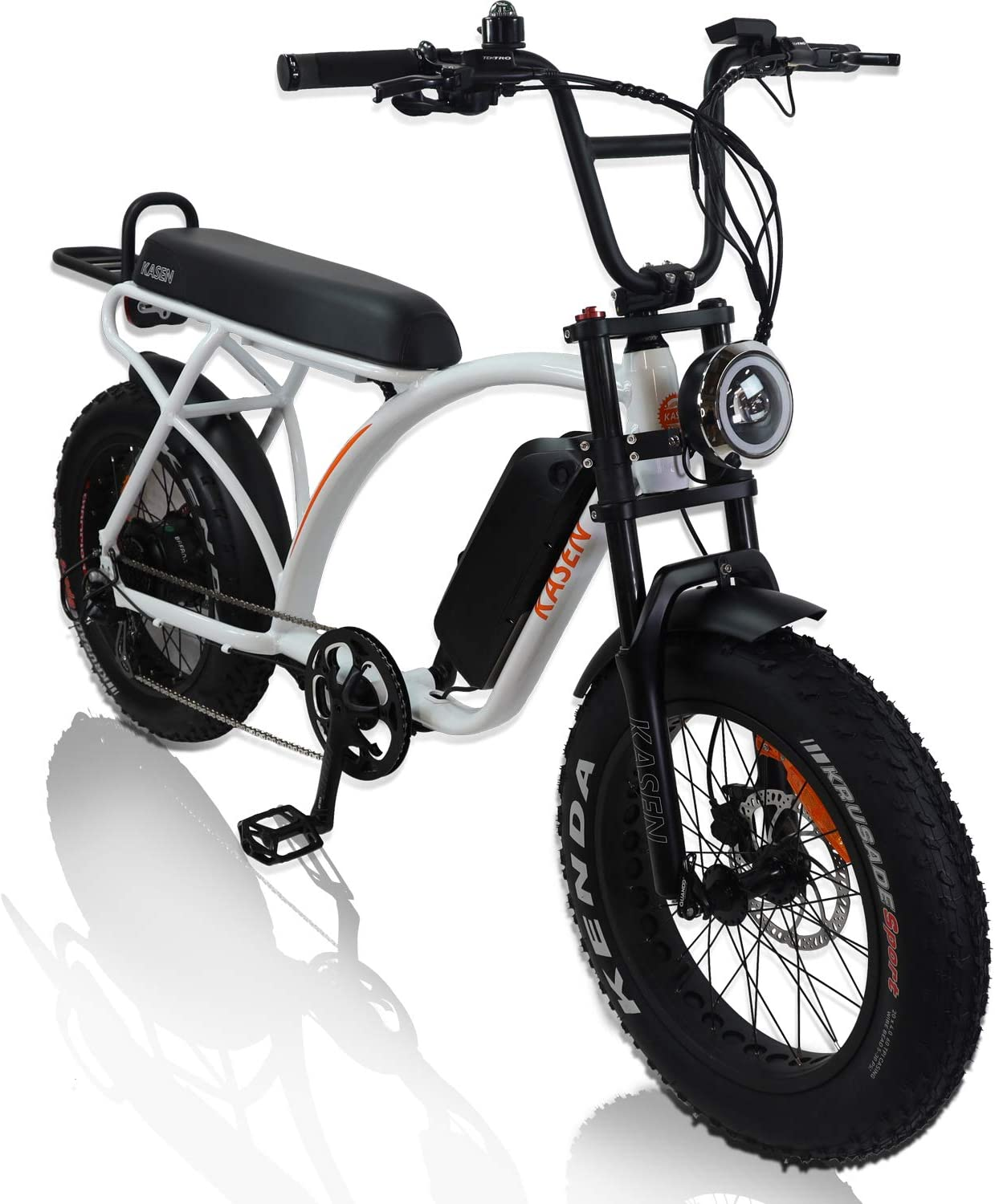 kasen Electric Bike Kabbit 1000w 20 Fat Tire Crusier Off Road 48V 14ah Samsung Lithium Battery