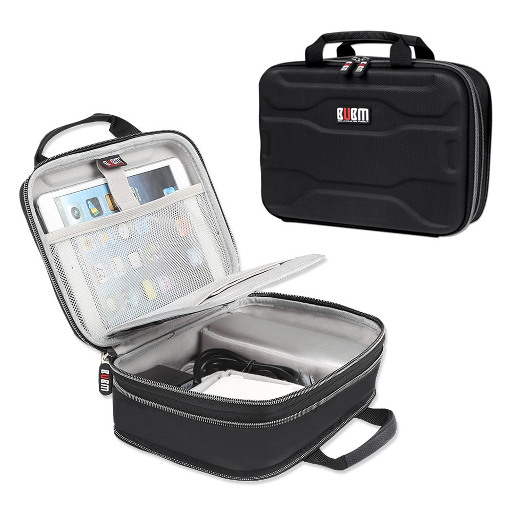 """BUBM Electronic Organizer, Hard Shell Travel Gadget Case with Handle for Cables, USB Drives, Power Bank and More, Fits for iPad Pro 10.5"""", Large"""