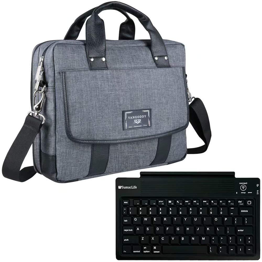 ノートパソコン メッセンジャー クロスボディ ショルダーバッグ + ワイヤレスキーボード 15.6