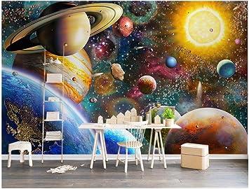 HHCYY Benutzerdefinierte 3D Tapete Weltraum Universum Kinderzimmer ...