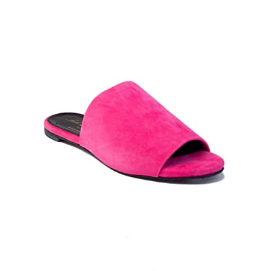 19aa3baec3a Robert Clergerie Women s Suede Gigy Slide Sandal Shoes Pink  Amazon.co.uk   Shoes   Bags