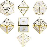 7 Die Metal Polyhedral Dice Set DND Rollenspel Game Dice Set met Opbergtas voor RPG Dungeons and Dragons DD Math…