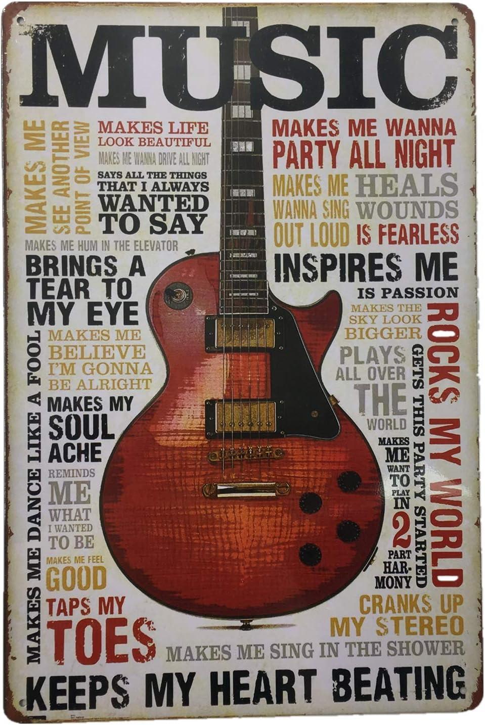 "AIQIBAO Metal Vintage Tin Sign Decor-Rock Festival for Movie House Bar Pub Funny Wall Retro Art Sign 12"" X 8"""