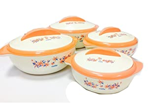 Cello Sizzler Insulated Casserole Food Server Hot Pot Gift Set (4Piece Set)