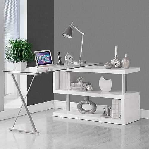Swivel Function 360 Adjustable Desk 55 x 47 inch l-Shaped Desk