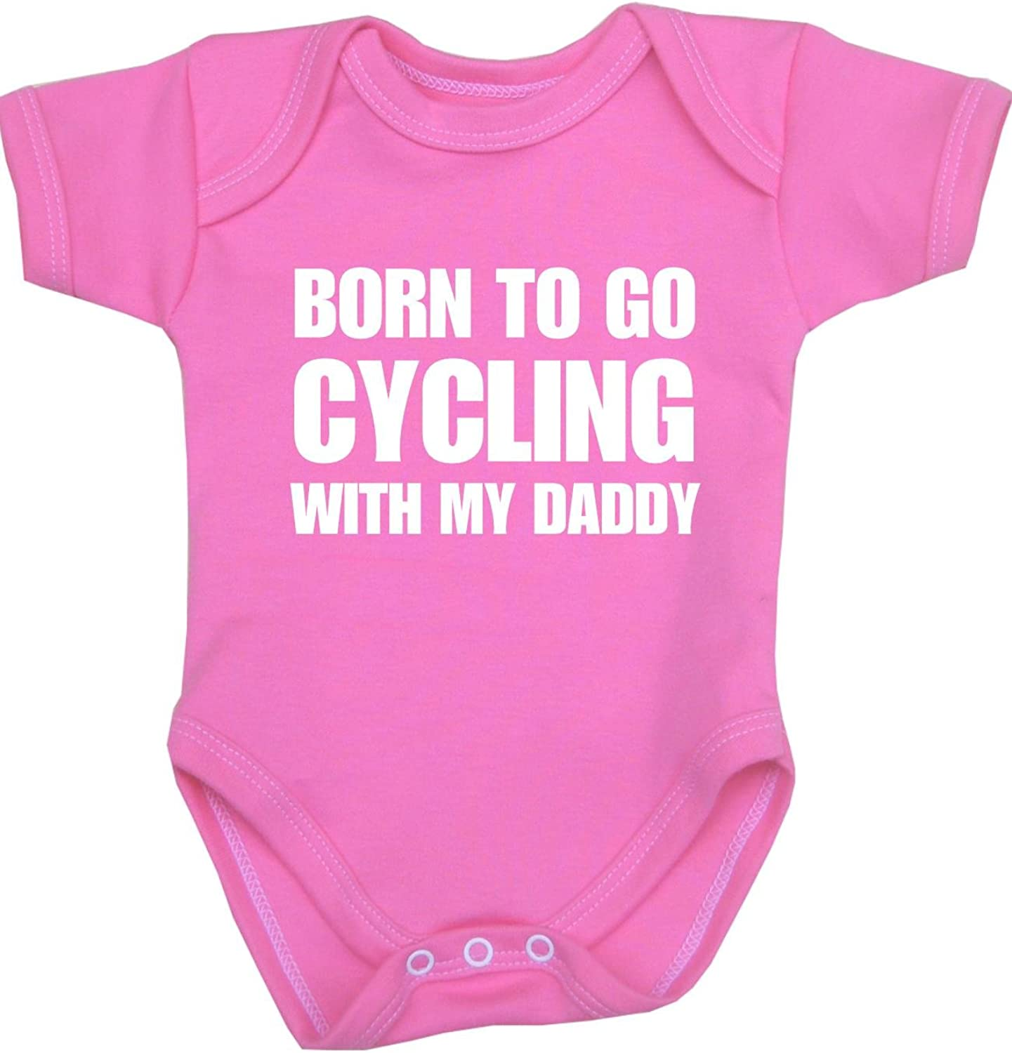 BabyPrem Baby Born to go Cycling with My Daddy Bodysuit Vest NB-12 mth