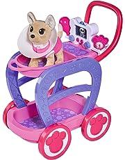 Carrito veterinario Chi Chi Love con perrito y accesorios (Simba 5893312)