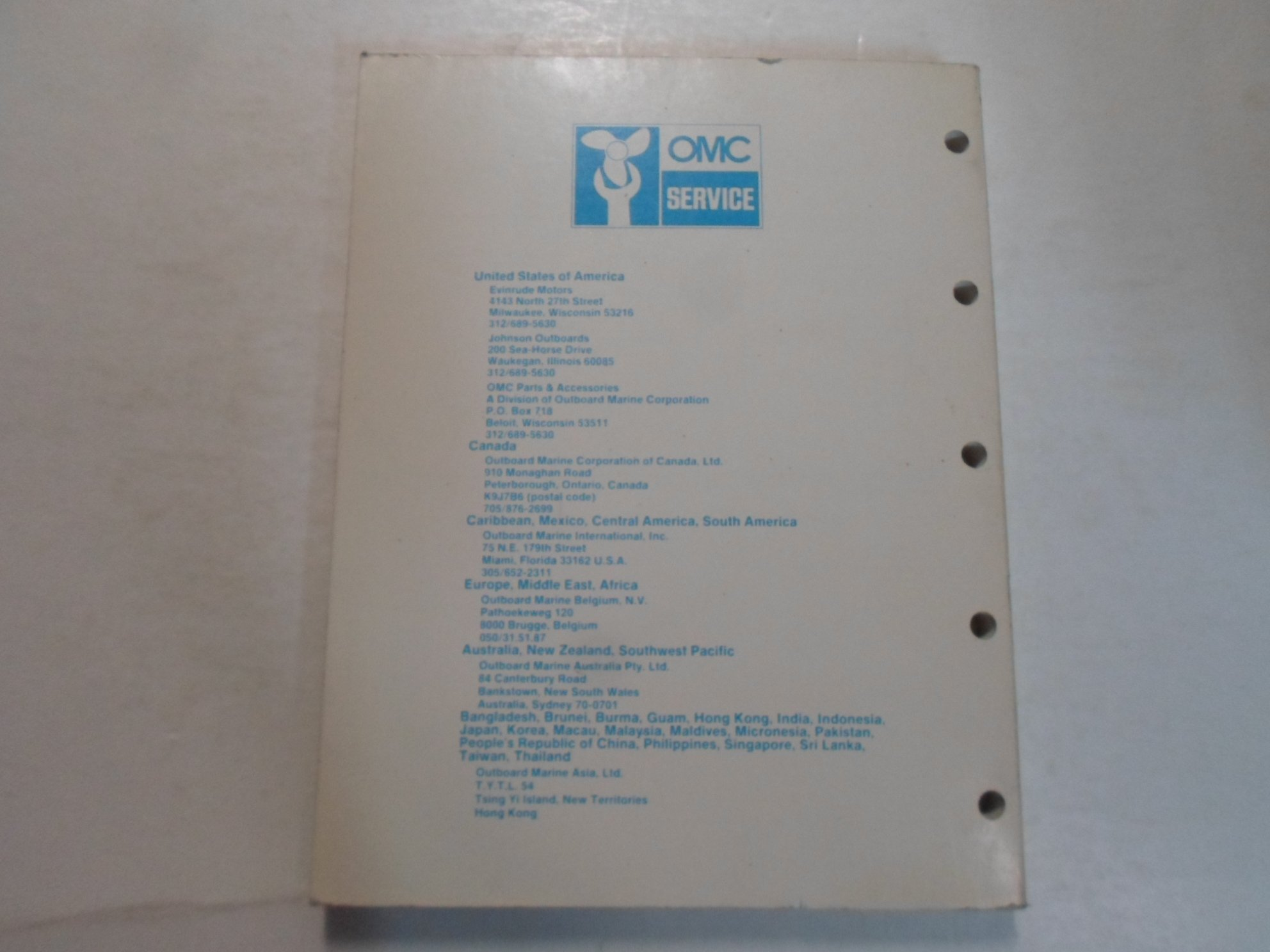 1985 Johnson Evinrude Co Cd Model V8 Service Repair Manual Minor Macau Electrical Wiring Code Wear Outboard Marine Corporation Books