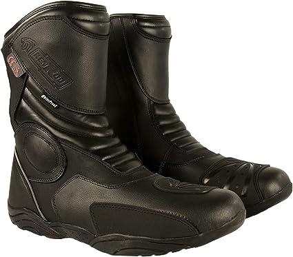 Bottes Home Cuir Bottes de Motard en Cuir Bottes Chaussures Moto Zerimar Bottes en Cuir de Moto