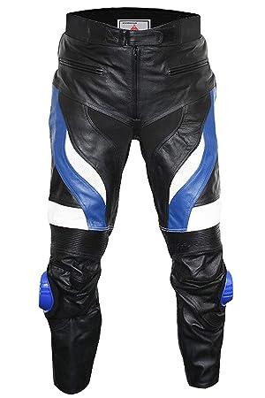 872db6b7 German Wear Pantalones de cuero para motocicleta: Amazon.es: Coche y moto