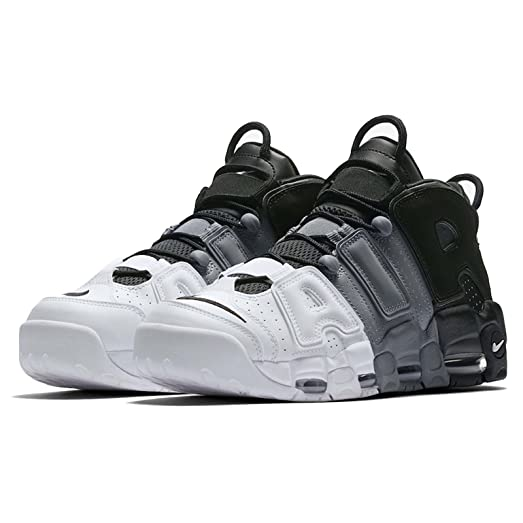 Nike Mens Air More Uptempo 96 Basketball Shoes BlackBlack-Cool Grey
