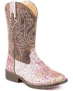 4f9c46f5793 Amazon.com | Roper SquareToe Glitter Checkerboard Western Boot ...