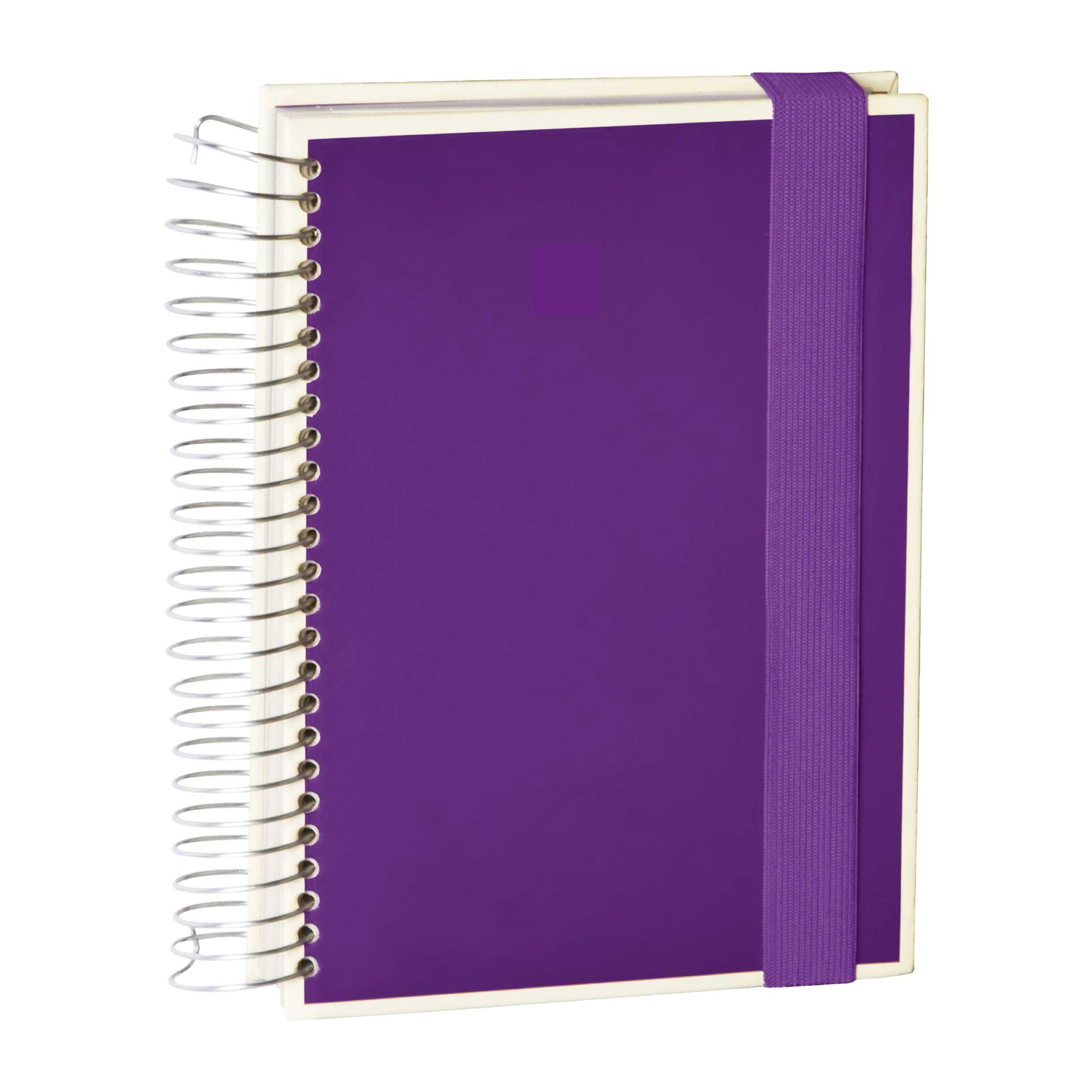 Semikolon Mucho Spiral Notebook with Lined, Graph and Blank Pages, Plum (1320018)