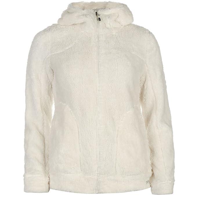 Gelert Mujer Yukon Top Chaqueta Sudadera Polar Con Capucha Cierre De Cremallera Blanco invernal XL (
