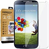 InaRock 0.26mm 9H Tempered Glass Screen Protector for Samsung Galaxy S4 I337 I545 M919 I9500 L720 Most Durable [Easy-Install Wings]