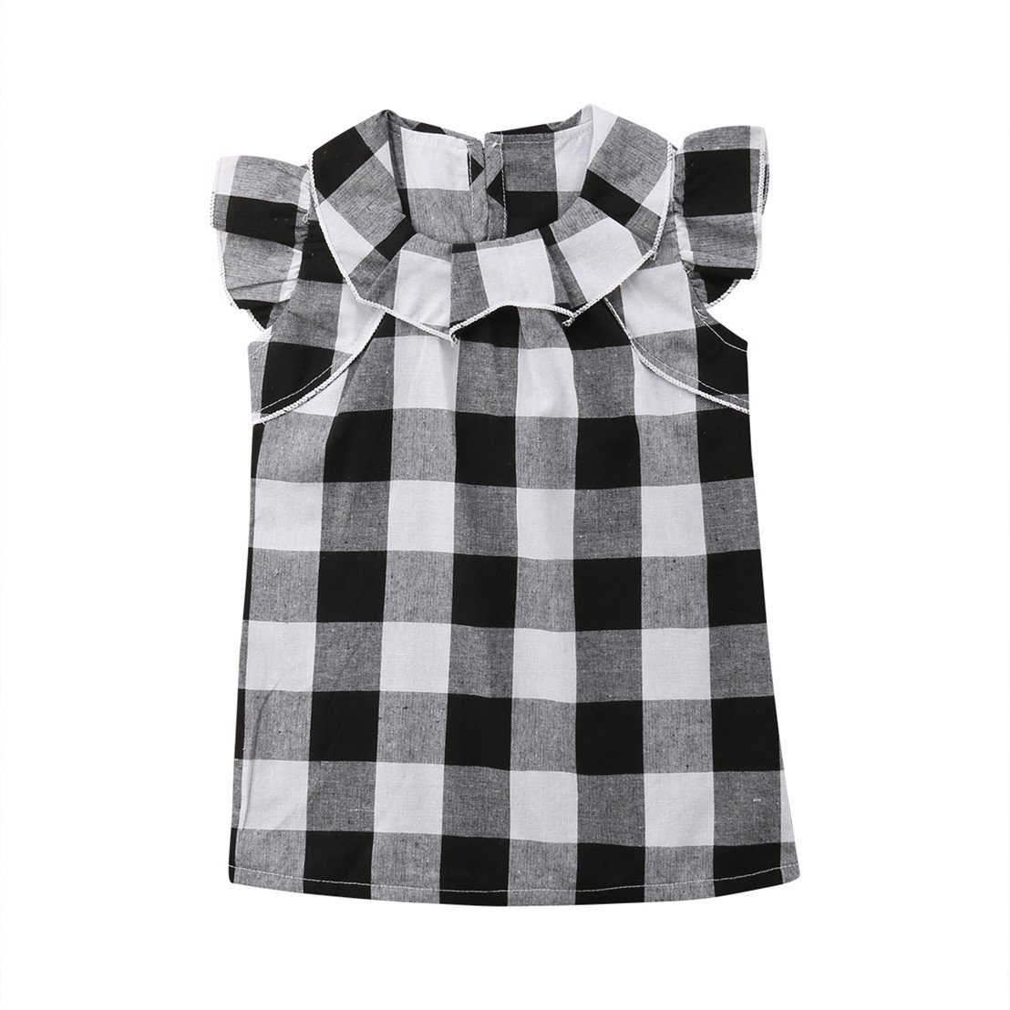 Mornbaby DRESS ベビーガールズ 4Years ホワイト/ブラック B07D9CCMX4