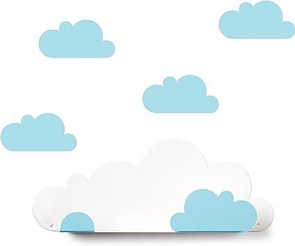 Tresxics Estantería Nubes, Metal, Azul, 37x24x7 cm: Amazon.es ...