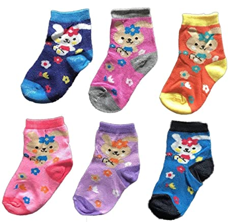 95e2847df Buy BabyMart Baby Boys and Girls Cotton Spandex Assorted Colors Socks Set  (Multicolour, 9-12 Months) - Pack of 6 Online at Low Prices in India -  Amazon.in
