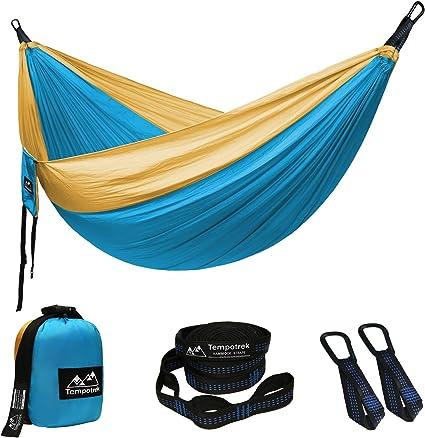 Backyard Kootek Camping Hammock Double /& Single Portable Tree Hammocks with 2 Hanging Ropes Hiking Lightweight Nylon Parachute Hammocks for Backpacking Travel Beach