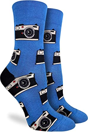 Blue Good Luck Sock Womens Octopus Socks Adult Shoe Size 5-9