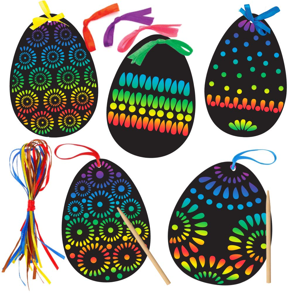 36 HANGING EASTER EGGS TO SCRATCH OFF
