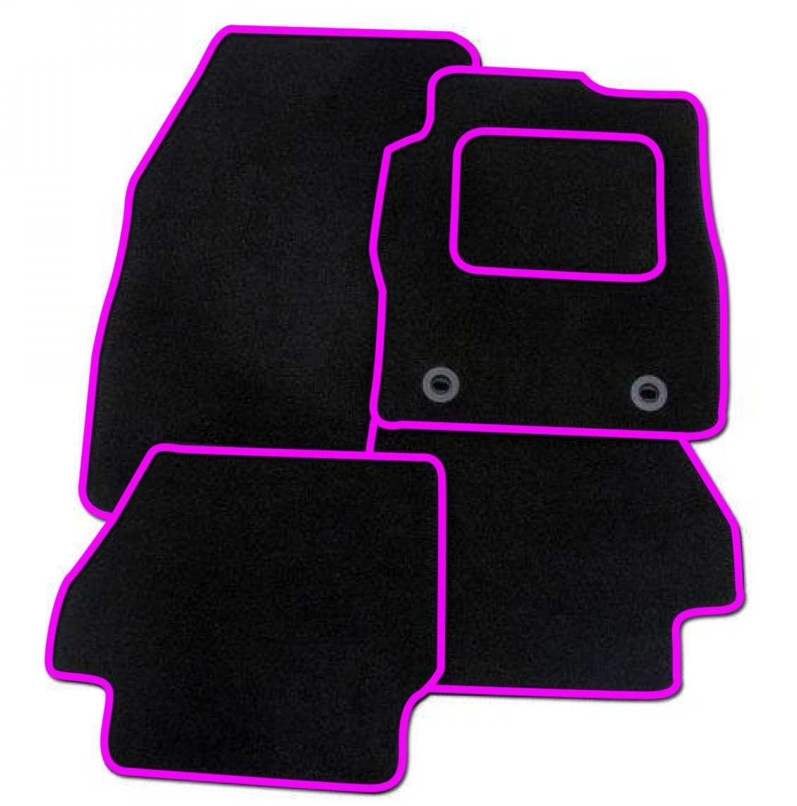 RED TRIM Rmsone GENUINE FULLY TAILORED BLACK CARPET CAR MATS FOCUS 2005-2011
