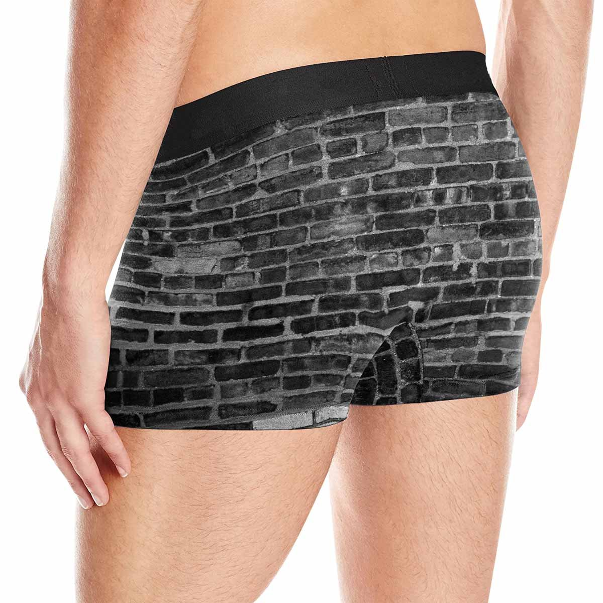 INTERESTPRINT Custom Mens All-Over Print Boxer Briefs Old Brick Wall XS-3XL