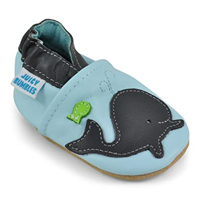 18f1c03f2a8 Juicy Bumbles Chaussure Bebe Garcon - Chausson Enfant Garcon - Chaussures  Bébé - Chaussons Bébé Cuir