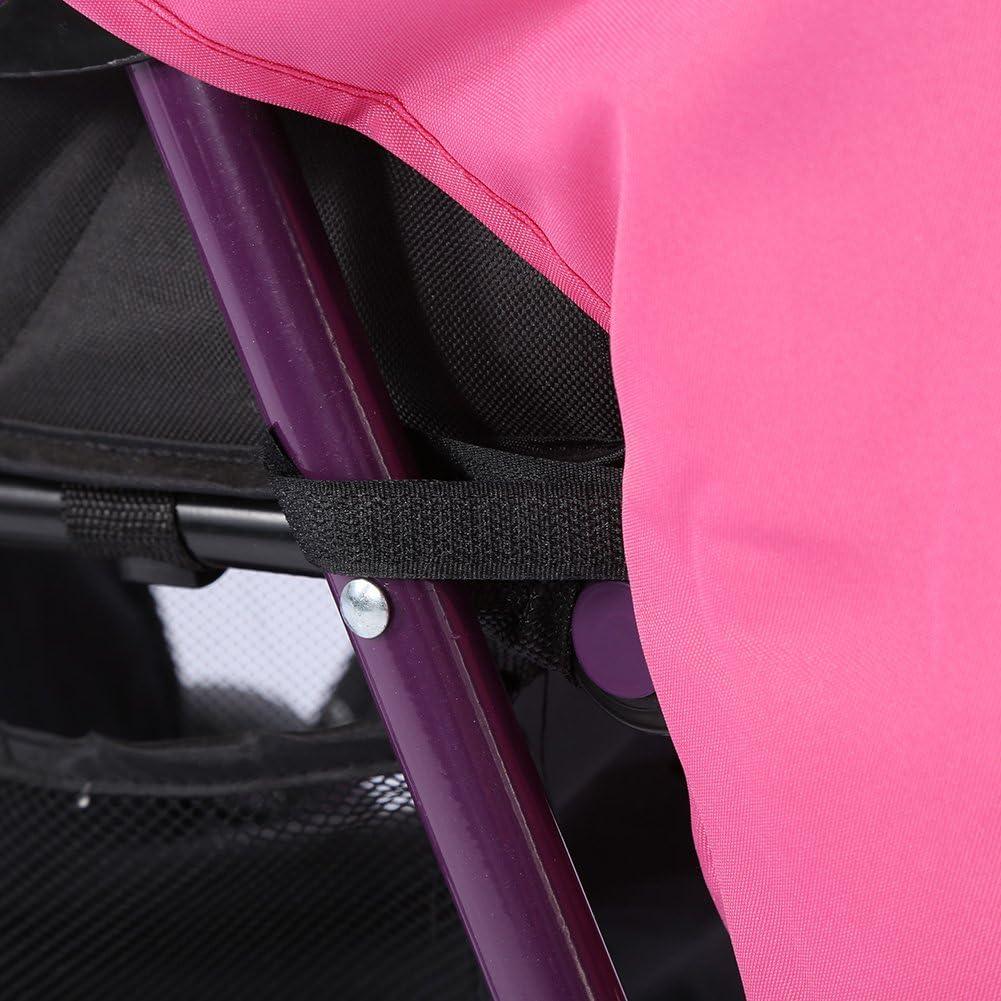 Black Jeffergarden Baby Stroller Cover Foot Muff Universal Weather Shield with Hook Loop Waterproof Windproof Outdoor Tool Black Pink Purple