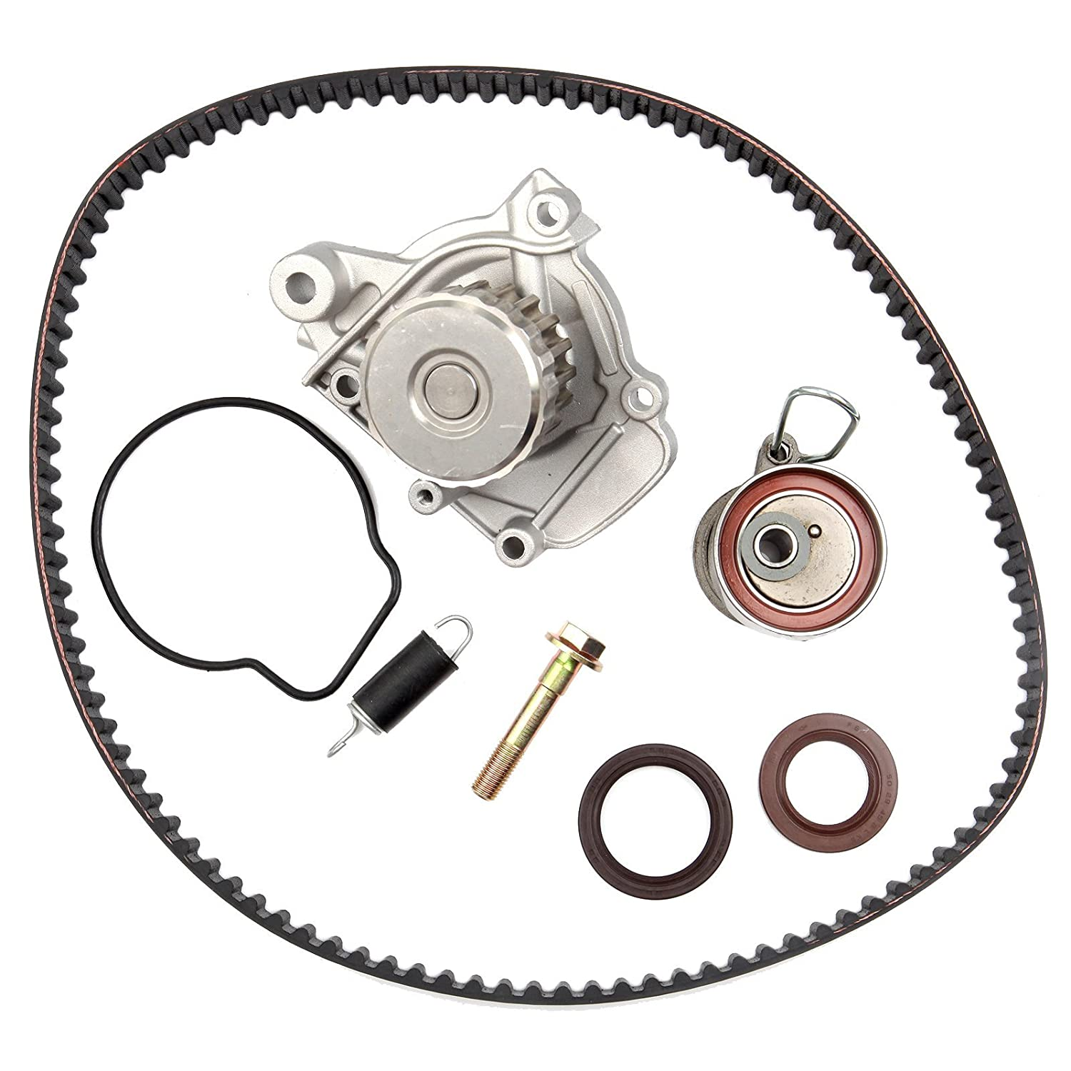 ECCPP Engine Timing Belt Water Pump Kit for 2001-2005 Honda Civic GX DX LX VP EX HX 1.7L D17A1 D17A2 D17A6 D17A7 L4 SOHC 16V BHBU0503A3889