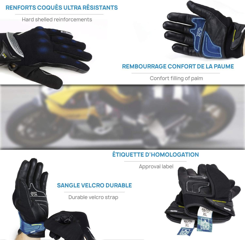 per scooter tattici in pelle tattili Guanti da moto militari XL tutte le stagioni confortevoli