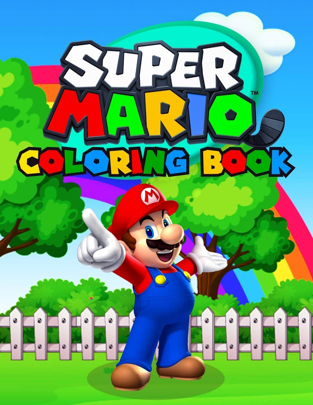 - Super Mario Coloring Book: Great Coloring Book For Kids Ages 2-10