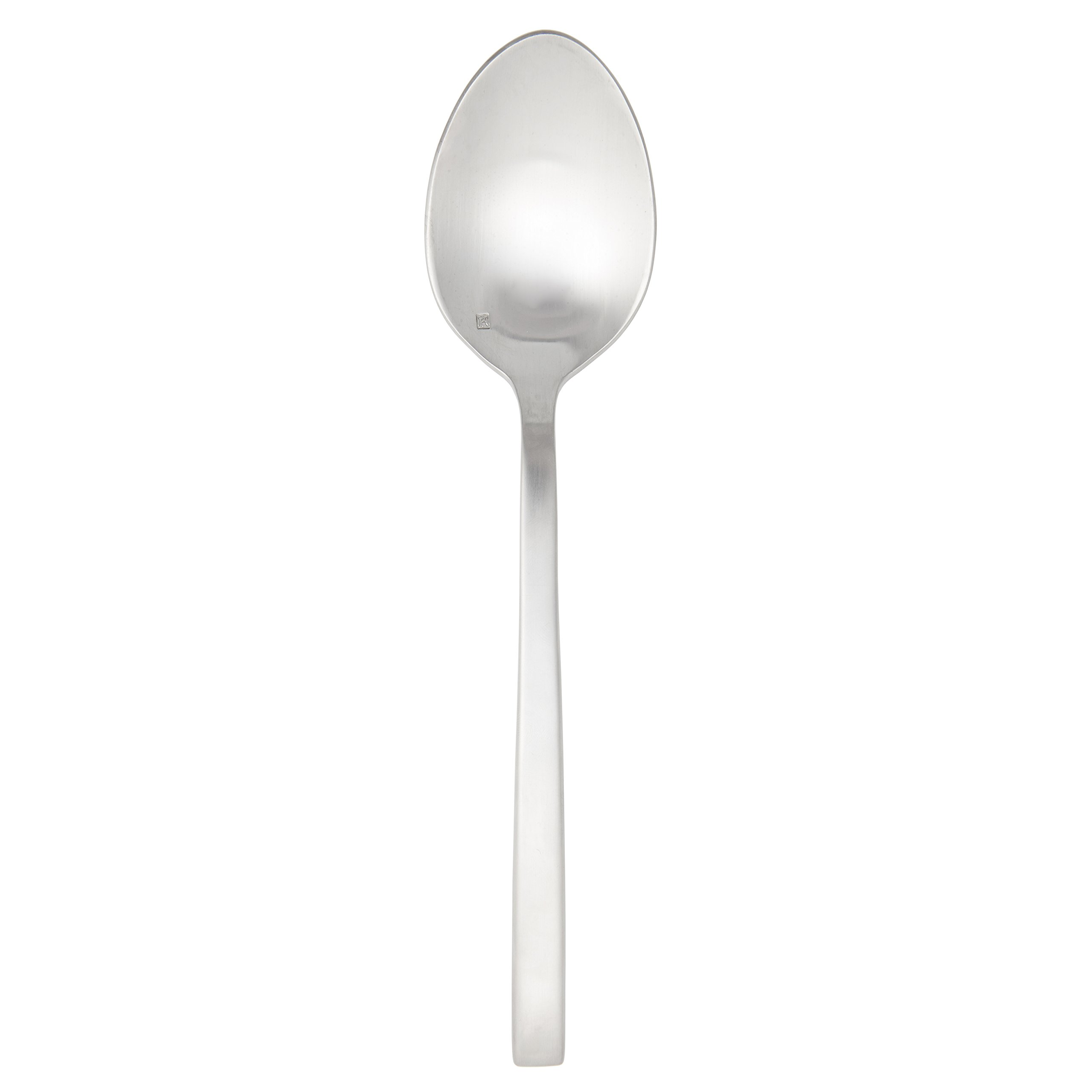 Fortessa Arezzo 18/10 Stainless Steel Flatware, Serving Spoon, 9.3'', Brushed Stainless Steel