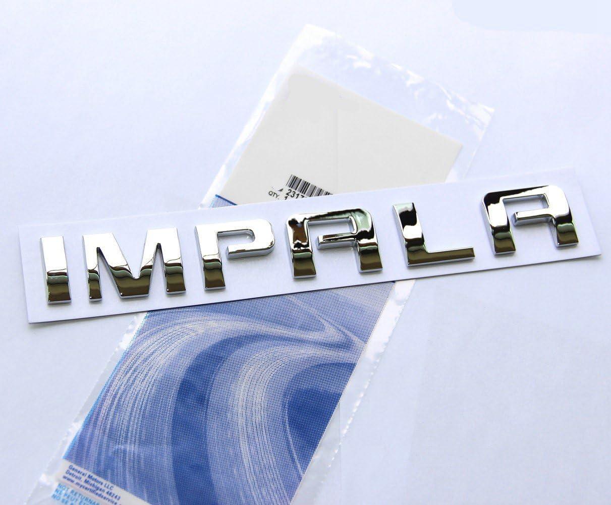 Aftermarket Compatible//Replacement for Chrome LT Emblem GMC Chevrolet Silverado Tahoe Express Impala Malibu Avalanche