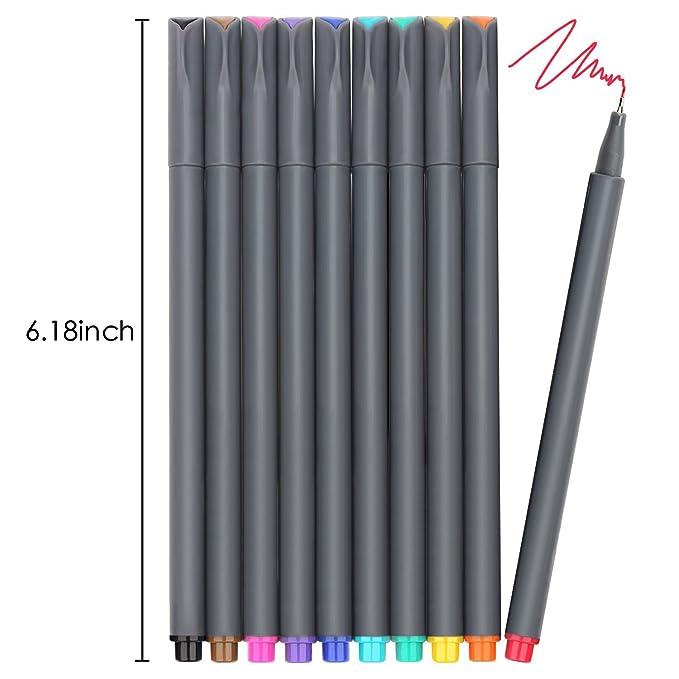 Amazon.com: Fineliner 10 bolígrafos de colores y plantillas ...