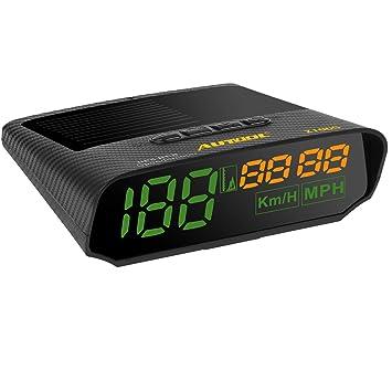 AUTOOL Solar GPS velocímetro mph/KMH con Altitud Sobre la Velocidad de Alarma, USB de Carga Disponible